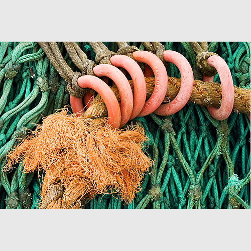 Fishing nets at Maryport, Cumbria